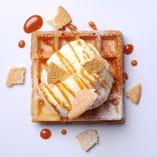 バニラアイス&生キャラメルソース