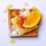 焼きカスタード&オレンジソース