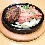 【石焼】ハンバーグ&厚切りベーコン