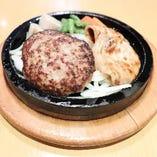【石焼】ハンバーグ&豚の生姜焼き