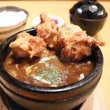 【石焼】若鶏唐揚げハンバーグカリー