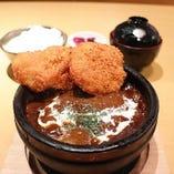 【石焼】チキンカツハンバーグカリー