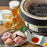 【早得】炭焼きセット (特選鷄炭焼きセット+2ドリンク)