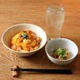 【早得】丼セット (親子丼+小鉢+1ドリンク)