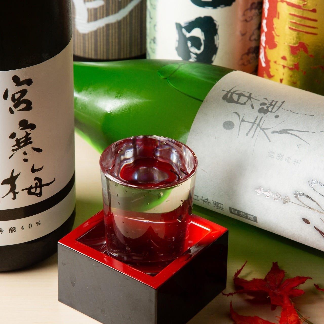 旬菜と相性抜群の日本酒や酎ハイ