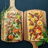 日本でも徐々に人気が出ているドイツのピザ、フラムクーヘン