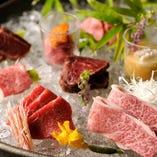 肉の旨味を存分に※生食用食肉取扱営業施設認可済み。
