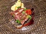 牛ロースの薄切り フレッシュマッシュルームのサラダ バルサミコ風味