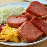 沖縄ハムと玉子焼き