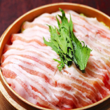 特選豚バラとおろし大根の出汁蒸籠蒸し(1 人前)
