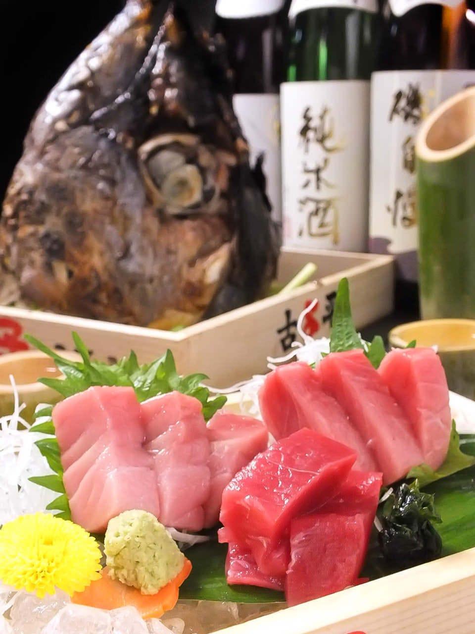 【わくわく!絶好調!今年もツイテる】本マグロ・牛タンが食べられる6000円飲み放題コース