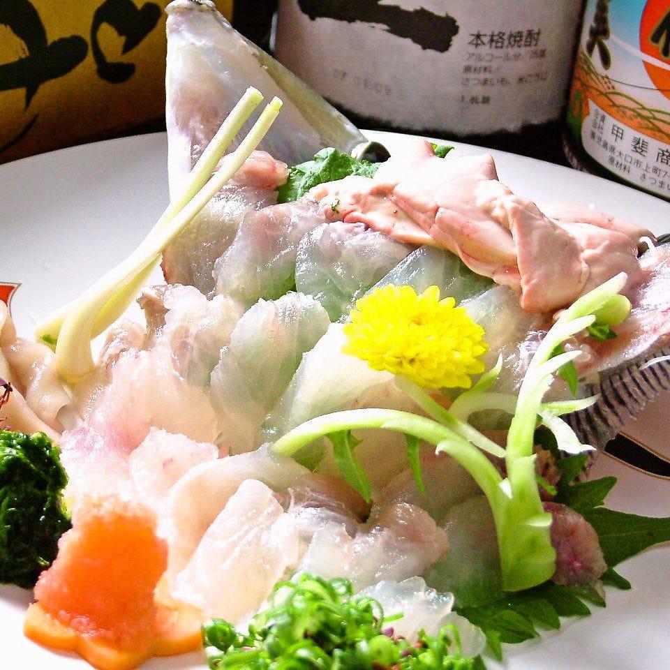 【おいしさを笑顔に】皮はぎと和牛ステーキが食べられる!飲み放題付7000円コース