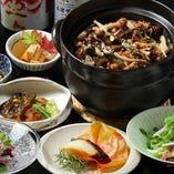 季節ごとの創作和食を取りそろえたコース料理は4,950円~