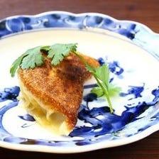 上海蟹とフカヒレの焼き餃子
