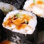 特製煮穴子のロール寿司