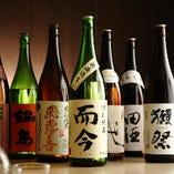 日本酒は常時30種類以上ご用意!