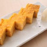 お寿司屋さんの出汁巻き玉子
