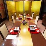 テーブル個室「祇園」 (2名様~16名様)※10名様用レイアウト
