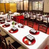 テーブル席「東山」(36名様まで) ※婚礼レイアウト