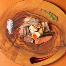 名物! 藁焼き 低温熟成ステーキ肉6種肉盛り