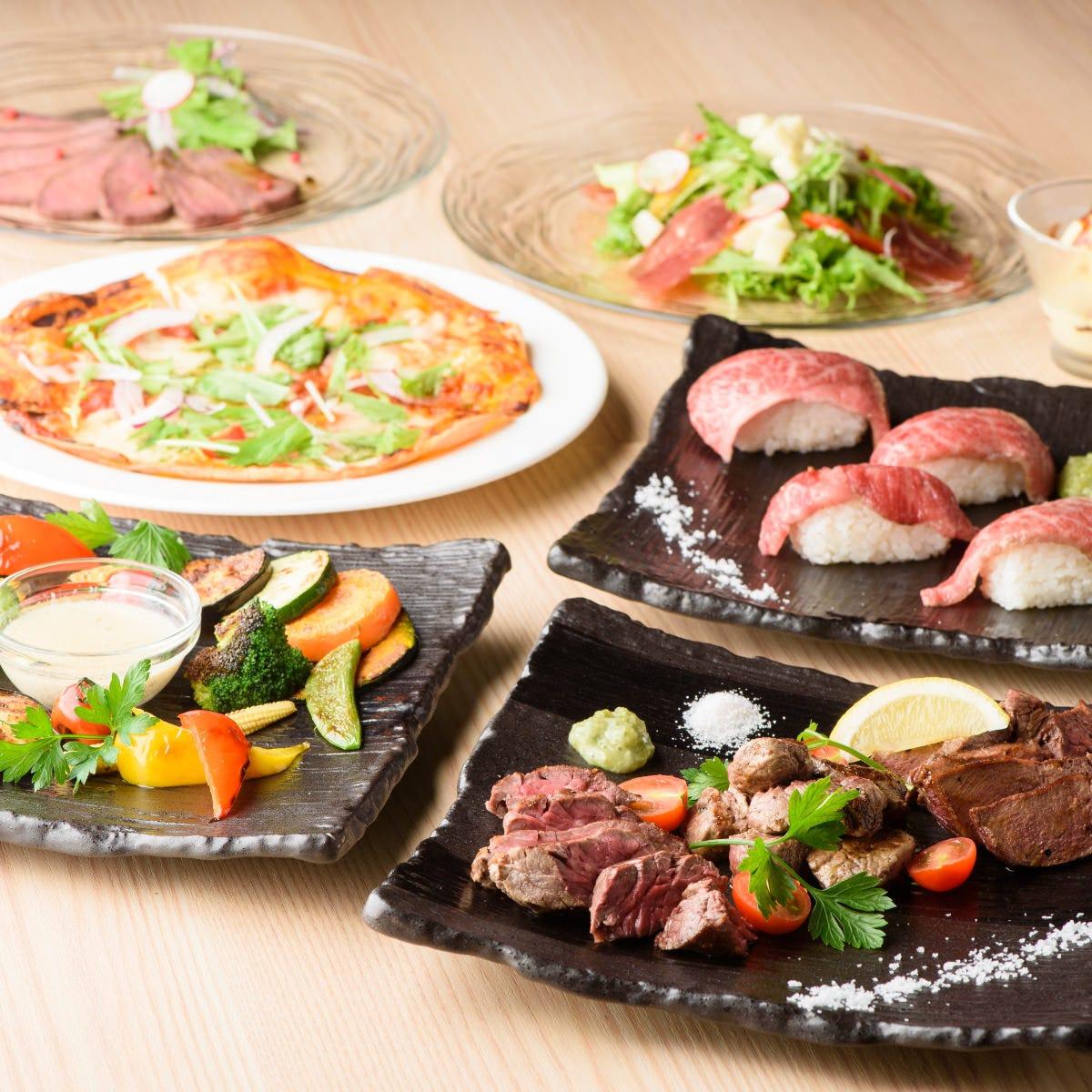 肉料理を心行くまで堪能できるコース