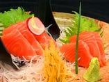 鮭の紅トロ刺し