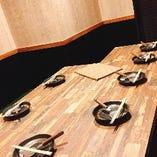 8名様までOK!落ち着いた雰囲気の個室