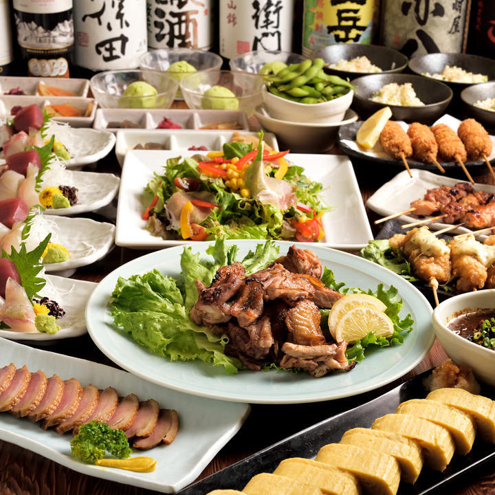 串・炙り・海鮮どれも楽しめる、多彩なコースを豊富にご用意!