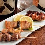 串焼きは「塩」「タレ」の2つの味よりお選びいただけます!