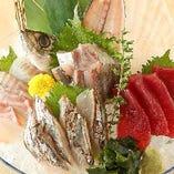 刺身3点盛り☆ とれピチ鮮魚を召し上がれ!