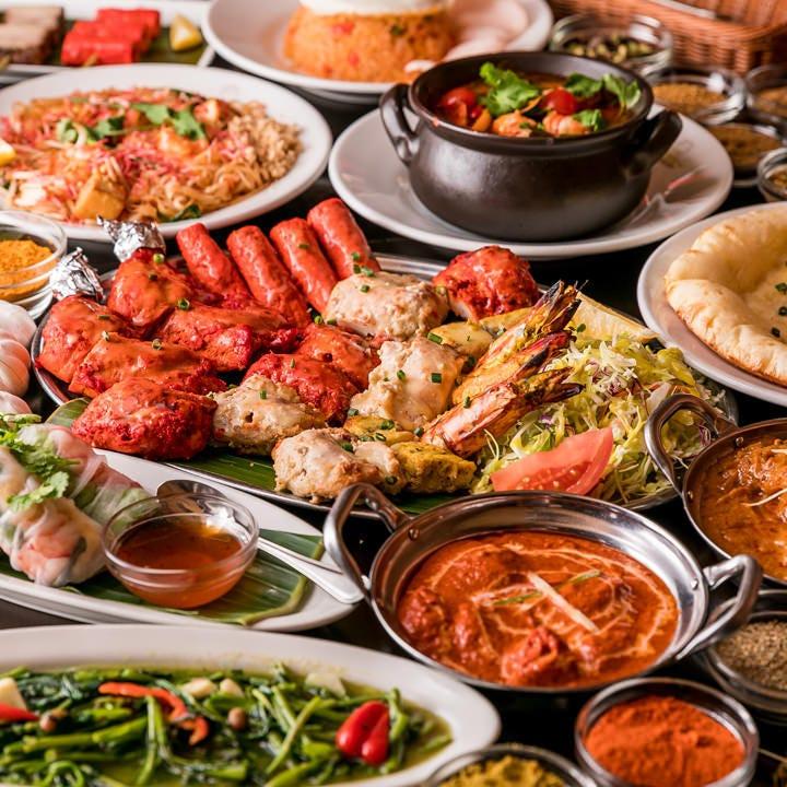 アジア各国の逸品を味わう飲み放題付コースを豊富にご用意!
