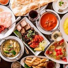 アジアン肉料理3種と飲み放題コース