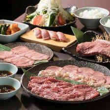 厳選黒毛和牛に、肉寿司も楽しめる