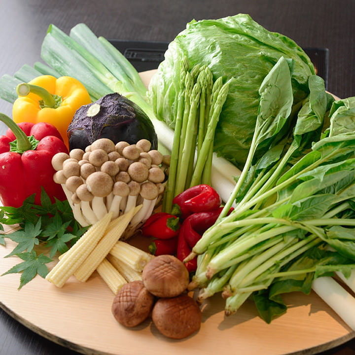 つゆしゃぶと相性の良い野菜も、たくさんご用意しています。