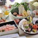 特上寿司&バームクーヘン豚の盛り合わせをつゆしゃぶで堪能【鶴翼】