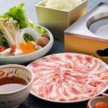 自慢の三元豚のつゆしゃぶ&寿司&鮮魚のお造里を堪能【比良】