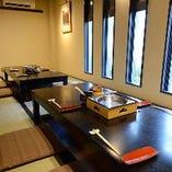 2部屋も仕切りを外して、最大14名様の個室にすることもできます。