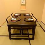 足腰への負担が少ないため、お子様やご年配のお客様にもおすすめのお席です。