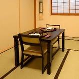 最大6名様までご利用いただける、テーブル式お座敷の少人数個室です。