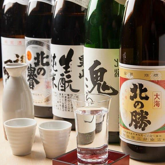 日本各地から厳選した日本酒が多数☆