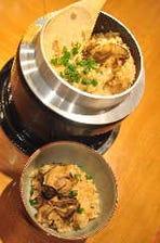 三陸産牡蠣釜飯
