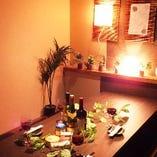 店内は和を基調とした味噌蔵風の完全個室でゆったり宴会♪
