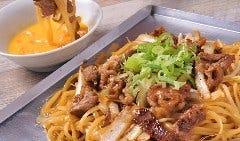 牛すき焼きそば(玉子つけ麺)