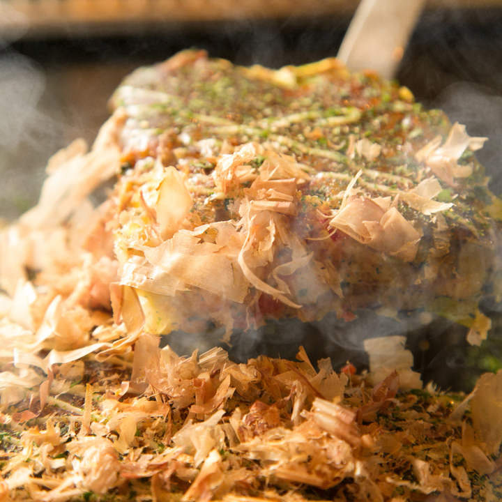 お好み焼き50種・もんじゃ60種・焼きそばなど全162品食べ放題!