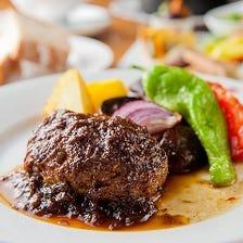 【一番人気】レギューム特製和牛のハンバーグステーキ