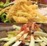 島らっきょうの天ぷらor塩漬け