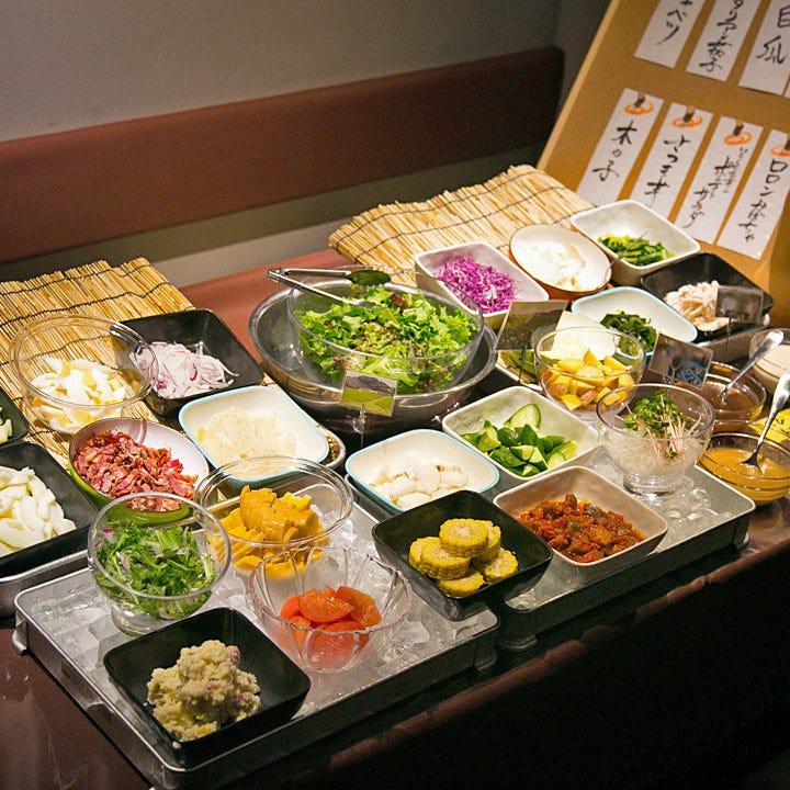 サラダバイキング&昼宴会プチコース
