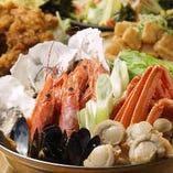 牡蠣と魚介の寄せなべ