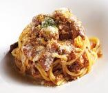 【パスタ】牛すじデミグラス煮込みのスパゲティ