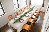 【要予約】最大12名様までご利用いただける個室席を用意しています。
